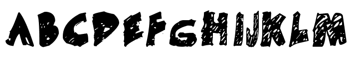 Un-finished Font UPPERCASE