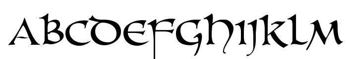 UnZialish Font UPPERCASE