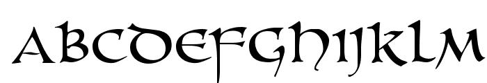 UnZialish Font LOWERCASE