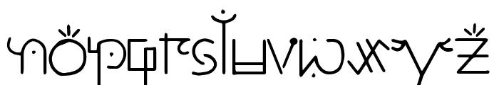 Unai Lines Font LOWERCASE