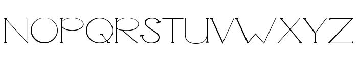 Unbalanced Font UPPERCASE