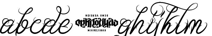 Unblessed Script Font LOWERCASE