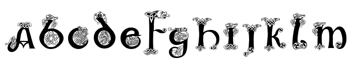 Uncial Animals Font UPPERCASE