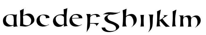 Uncial Animals Font LOWERCASE