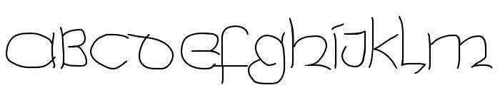 UncialeXpress-Light Font UPPERCASE