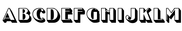 UncleBobMF-Shadow Font UPPERCASE