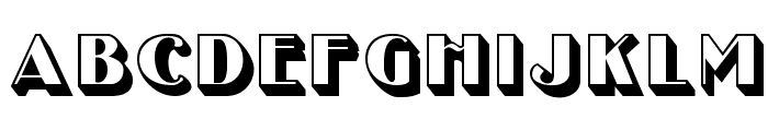 UncleBobMF-Shadow Font LOWERCASE