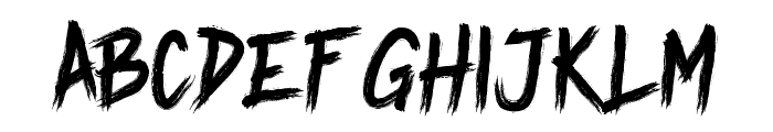 Undead Font LOWERCASE
