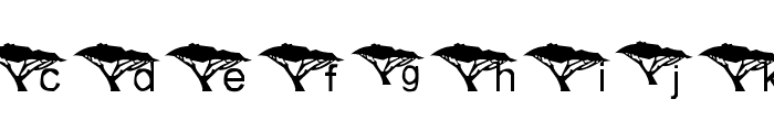 Under An Acacia Tree Font LOWERCASE
