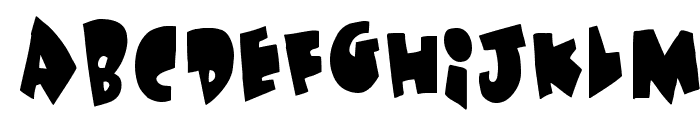 Under attack Font LOWERCASE