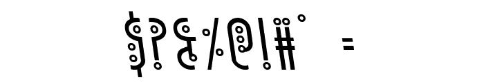 Underground Rose Leftalic Font OTHER CHARS