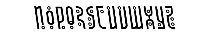 Underground Rose Leftalic Font LOWERCASE