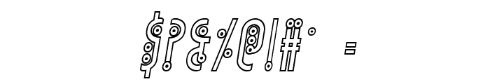Underground Rose Outline Italic Font OTHER CHARS