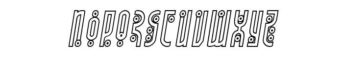 Underground Rose Outline Italic Font LOWERCASE