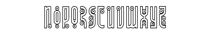 Underground Rose Outline Font UPPERCASE
