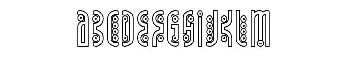 Underground Rose Outline Font LOWERCASE