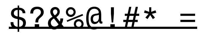 UnderlineMonospace Font OTHER CHARS