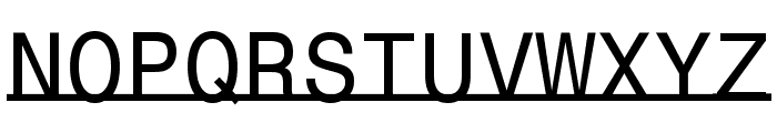 UnderlineMonospace Font UPPERCASE