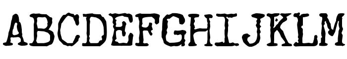 Underwood Champion Font UPPERCASE