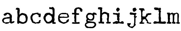 Underwood Champion Font LOWERCASE