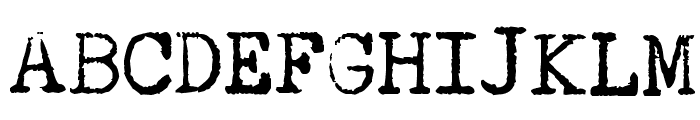 Underwood Quiet Tab Font UPPERCASE