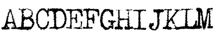 Underwood1913 Normal Font UPPERCASE