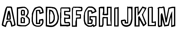 Unfinished Sympahthy Font UPPERCASE