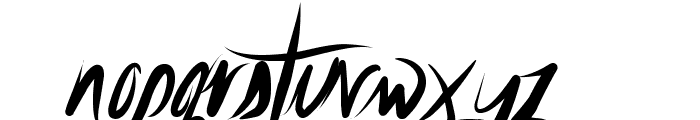 UnfoldingTragedy-Clean Font LOWERCASE