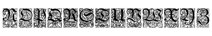 Unger-Fraktur Zierbuchstaben Font UPPERCASE