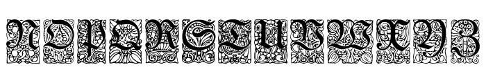 Unger-FrakturZierbuchstaben Font UPPERCASE