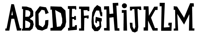 Unggas Malam Font UPPERCASE