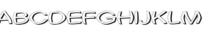 Uni Tortred Font UPPERCASE