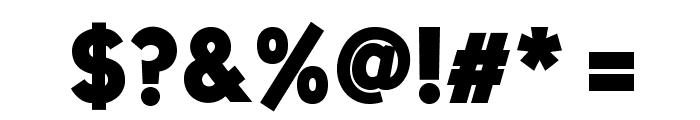 UniSansHeavyCAPS Font OTHER CHARS