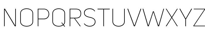 UniSansThinCAPS Font LOWERCASE