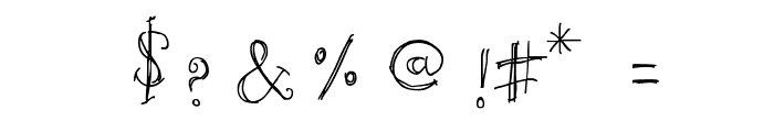 Unic Calligraphy Font OTHER CHARS