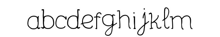 Unic Calligraphy Font LOWERCASE