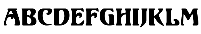 Unicorn Regular Font UPPERCASE