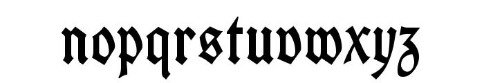 UnifrakturCook-Regular Font LOWERCASE