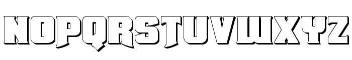Union Gray 3D Font LOWERCASE