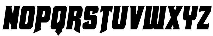Union Gray Condensed Semi-Italic Font UPPERCASE