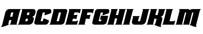Union Gray Expanded Italic Font UPPERCASE