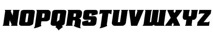 Union Gray Expanded Semi-Italic Font UPPERCASE