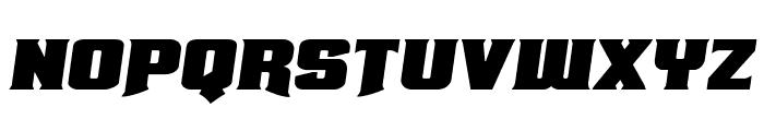 Union Gray Expanded Semi-Italic Font LOWERCASE