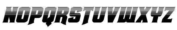 Union Gray Halftone Italic Font UPPERCASE