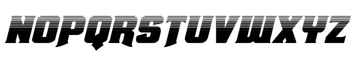 Union Gray Halftone Italic Font LOWERCASE