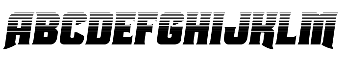 Union Gray Halftone Semi-Italic Font UPPERCASE