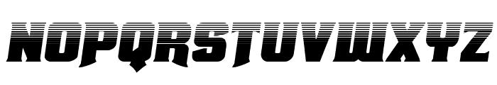 Union Gray Halftone Semi-Italic Font LOWERCASE