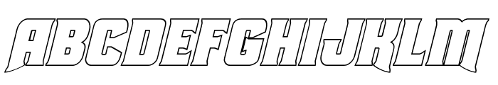 Union Gray Outline Italic Font UPPERCASE