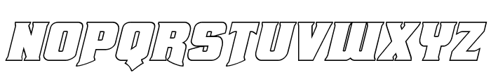 Union Gray Outline Italic Font LOWERCASE