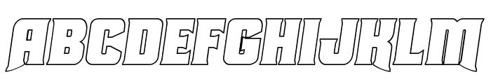Union Gray Outline Semi-Italic Font UPPERCASE